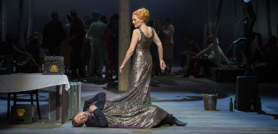 Angela Denoke (die Königin), Michael Nagy (Hans Heiling); Arnold Schoenberg Chor, Copyright: Herwig Prammer