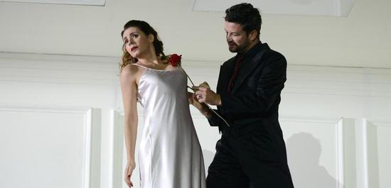 Rodelinda - Opéra de Lyon (Sabina Puértolas and Krystian Adam), Copyright: Jean-Pierre Maurin