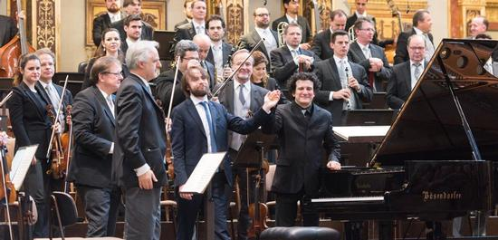Daniil Trifonov mit Alain Altinoglu, Wiener Philharmoniker, Copyright: Terry Linke