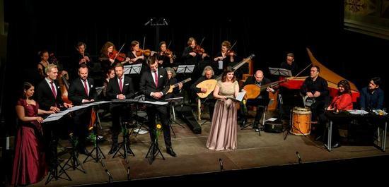 Sopranistin Aurora Pena & lautten compagney Berlin beim Fontane-Abend in der KulturKirche Neuruppin, Copyright: Aequinox