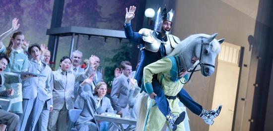 Alex Esposito (Don Quichotte), Seth Carico (Sancho Pansa), Copyright: Thomas Aurin