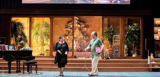 Bühnenbild Tosca/ Dirigent: Daniele Rustioni, Regie: Christoph Honoré, Copyright: Jean Louis Fernandez