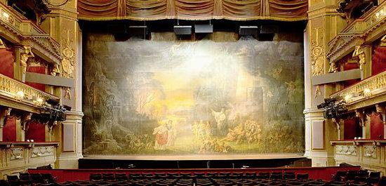 Theater an der Wien: Blick auf den Eisernen Vorhang, Copyright: Paul Ott