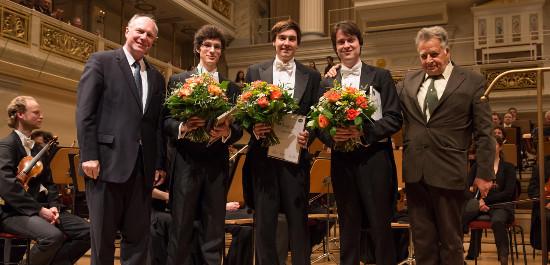 Preisübergabe an die 3. Finalisten des Deutschen Dirigentenpreises 2015, © Peter Adamik