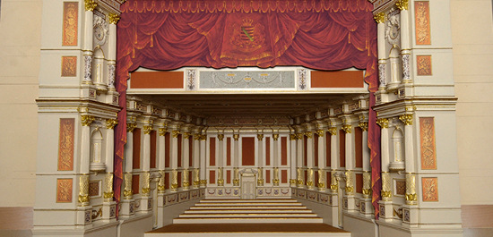 Modell des neuen Konzertzimmers der Staatskapelle Dresden, © Matthias Creutziger