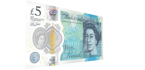 Neue britische 5-Pfund-Note, © Bank of England