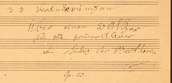 Diabelli-Titelblatt (Ausschnitt), © Beethoven-Haus Bonn