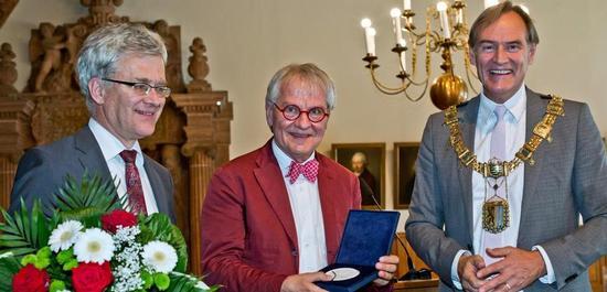 Prof. Dr. Peter Wollny, Direktor Bach-Archiv Leipzig, Reinhard Goebel und Oberbürgermeister Jung, © Gerd Mothes