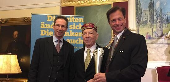 Helmut Hardt, Paul Badura-Skoda, Dr. Adrian Hollaender, © Ben Owen-Brown