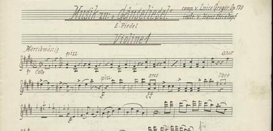 "Notenblatt der Märchenoper ""Gänseliesel"" (Violine 1), © Uni Kassel"