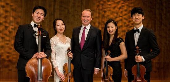 Baum-Quartett mit Dr. Hans-Walter Peters, © Bertold Fabricius