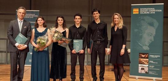 Tchalik Quartett (1. Preis), © Universität Mozarteum