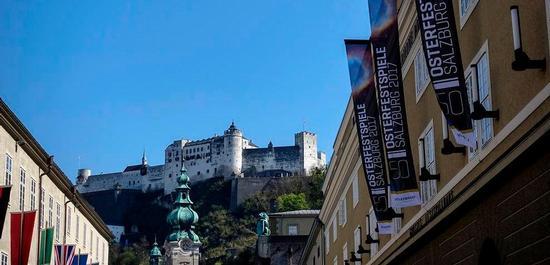 Osterfestspiele Salzburg 2017. Großes Festspielhaus und Festung., © Matthias Creutziger