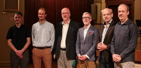 Alexander Suchlich, Jonas Zipf, Volker Arnold, Prof. Dr. Benjamin-Immanuel Hoff, Kay Kuntze und Hendrik Schnöke, © Ronny Ristock
