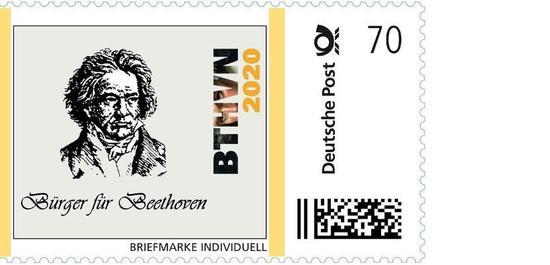 Beethoven Briefmarke, © Bürger für Beethoven