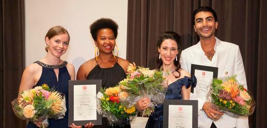 Kathrin Hottiger, Mariamielle Lamagat (beide 3.), Marie Lys (1. Preis) und Cameron Shahbazi (2.), © DieFotografen