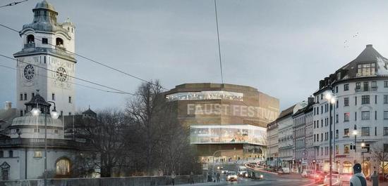 Gasteig München (Visualisierung), © Henn GmbH