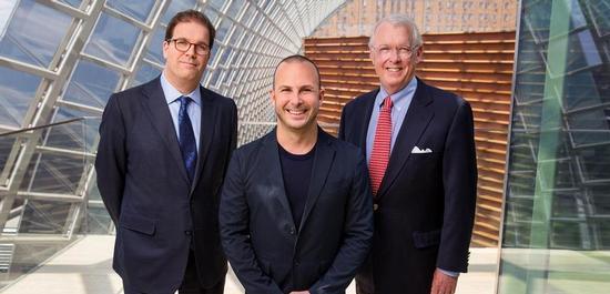 Geschäftsführer Matías Tarnopolsky, Music Director Yannick Nézet-Séguin und der Chairman des Board of Directors, Richard Worley, © Jessica Griffin