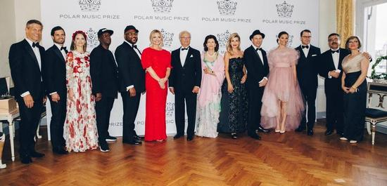 Die Preisträger des Polar Music Prize 2019 mit König Carl Gustav, © Annika Berglund