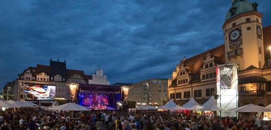 BachStage auf dem Leipziger Markt, © Gert Mothes