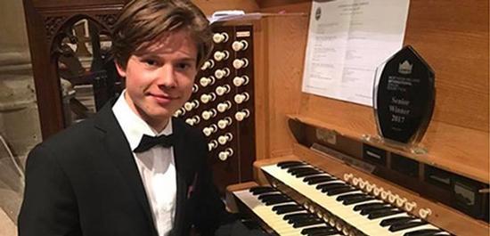 Organist Sebastian Heindl, © HMT Leipzig