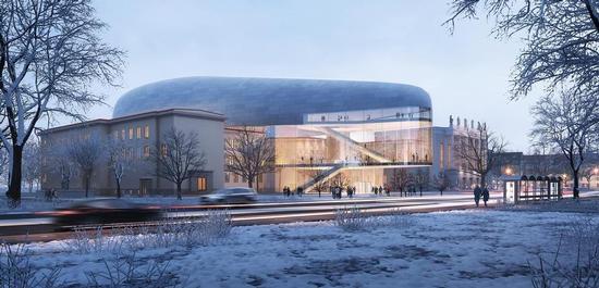 Konzerthalle Ostrava (Entwurf), © Steven Holl Architects