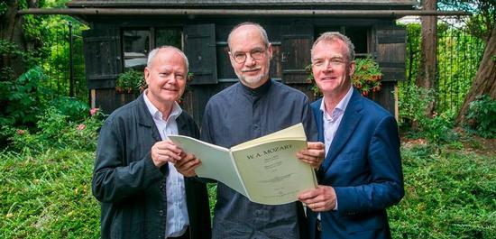 Wolfgang Thein, Ulrich Leisinger, Johannes Honsig-Erlenburg mit der c-moll Messe, © Wildbild Rohrer