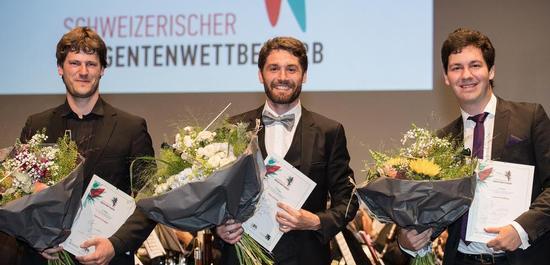 Die Gewinner des diesjährigen Schweizerischen Dirigierwettbewerbs, © Schweizerischer Dirigentenwettbewerb