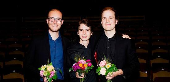 Die Gewinner Andrea Cellacchi, Theo Plath und Mathis Stier, © Daniel Delang