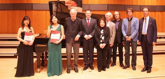 Gewinner und Jury des Detmolder Brahms-Wettbewerbes 2019, © HfM Detmold / Plettenberg