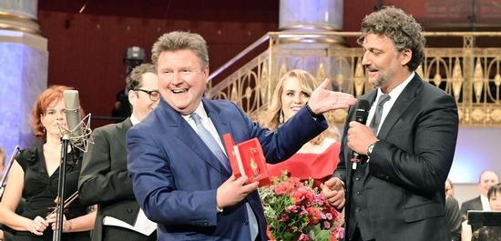 Verleihung des Goldenen Rathausmannes an Jonas Kaufmann, © C. Probst