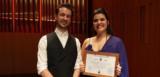 Lortzing-Preisträgerin Marcela Rahal mit ihrem Korrepetitor Diogo Mendes, © Siegfried Duryn