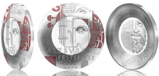 20 Euro Silbermünze 100 Jahre Salzburger Festspiele, © Münze Österreich AG