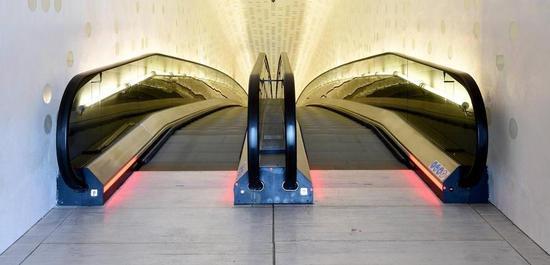 Rolltreppen der Elbphilharmonie Hamburg, Copyright: Michael Zapf