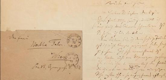 Brief von Johannes Brahms an B. Faber, © Brahms-Institut an der MHS Lübeck