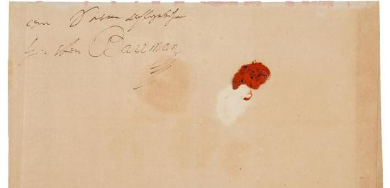 Ludwig van Beethoven Autograph, © Heritage Auctions