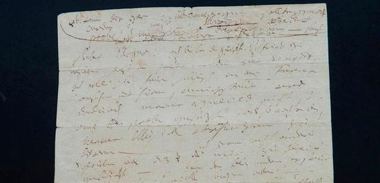 Brief Ludwig van Beethovens an Friedrich Sebastian Mayer, © Barbara Frommann