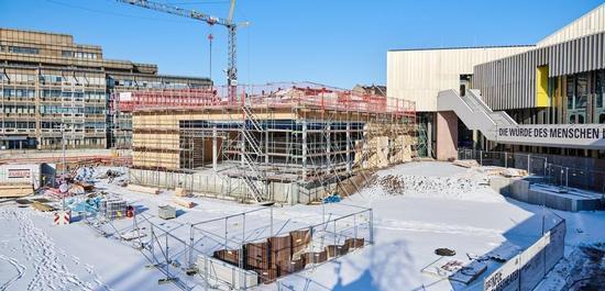 Baustelle am Badischen Staatstheater Karlsruhe, © Arno Kohlem