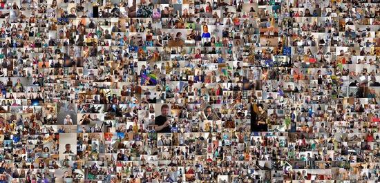 1.360 Musiker aus 43 Ländern bei ihrem Weltrekord, © RID