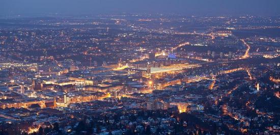 Stuttgart bei Nacht, © Evgeny Dontsov