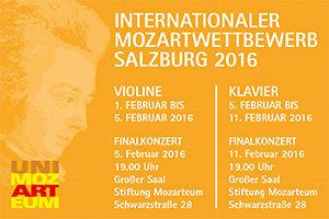 Int. Mozartwettbewerb Salzburg 2016
