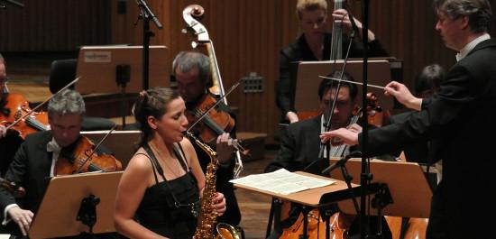Saxophonistin beim Deutschen Musikwettbewerb 2012, Foto: DMW/Frommann