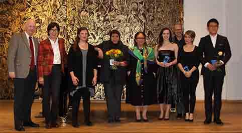 Jury und Preisträger des Richard-Strauss-Gesangswettbewerbs 2015