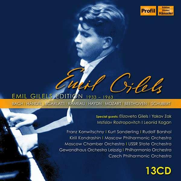 Details zu Emil Gilels Edition (1933-1963): Werke u.a. von Bach, Händel, Scarlatti, Rameau, Haydn, Mozart, Beethoven, Schubert