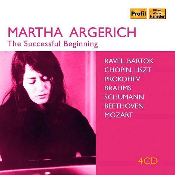 Details zu Martha Argerich: The Successful Beginning: Werke von Ravel, Bartok, Mozart, Beethoven, Schumann, Brahms u.a.